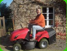 Danny on Lawnmower